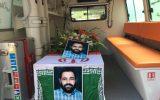 پیکر مطهر حاج حسین همتی جانباز ۷۰درصد قطع نخاعی تشییع و به خاک سپرده شد